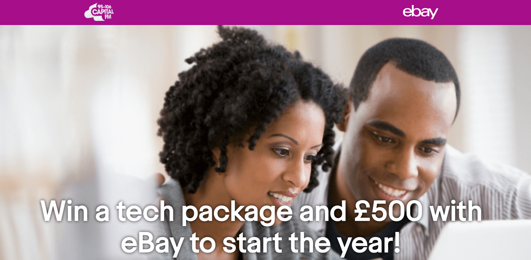 Win an iPhone XR, laptop and £500 with eBay from Capital FM