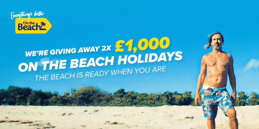 Win £1,000 of holiday vouchers from On The Beach