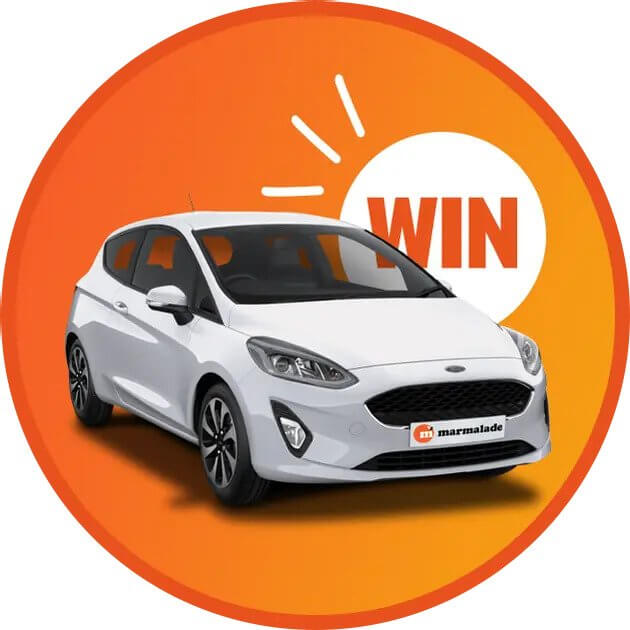 Win a 2021 Ford Fiesta from Marmalade