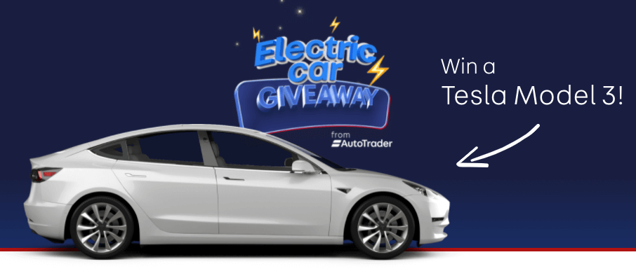 Win a Tesla Model 3 car from Auto Trader